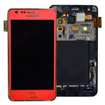 Genuine Samsung GT-i9100 Galaxy S2 Complete Lcd and Touchpad with Frame in Pink- Samsung part no: GH97-13080A (Grade A)