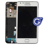 Samsung i9100 Galaxy S2 Complete lcd and digitizer with frame and charging connector flex in white