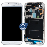 Genuine Samsung Galaxy S4 LTE/ GT-i9505 Complete Lcd, Digitizer and frame - White frost - GH97-14655A