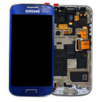 Genuine Samsung Galaxy S4 Mini GT-I9195 Complete Lcd and digitizer with frame in Metalic Blue gh97-14766c
