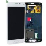 Genuine Samsung S5 Mini SM-G800F Lcd and touchpad in white - Samsung part number: GH97-16147B