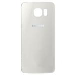 Genuine Samsung SM-G925 Galaxy S6 Edge Battery Cover in White - Part no: GH82-09602B
