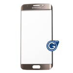 Samsung Galaxy S6 Edge SM-G925 Glass Lens with Adhesive in Gold Platinum