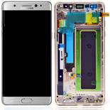 Genuine Samsung Galaxy Note 7 (SM-N930F)  Complete Lcd with touchpad and frame complete in Silver- part no: GH97-19302B