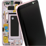 Genuine Samsung S8 (G950) Complete lcd and touchpad with frame assembly unit in Pink - GH97-20457E