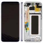 Genuine Samsung S8 Plus (SM-G955) Complete lcd and touchpad with frame assembly unit in Silver - Part no: GH97-20470B