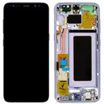 Genuine Samsung S8 (SM-G950) Complete lcd and touchpad with frame assembly unit in Orchid Grey - Part no: GH97-20457C