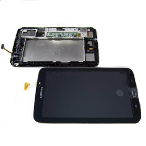 Genuine Samsung Galaxy Tab 3 7.0 SM-T210,P3210 Complete LCD with Digitizer and Frame in Black (Grade C)
