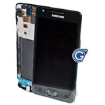 Samsung i9100 Galaxy S2 Complete lcd and digitizer with frame and charging connector flex in black