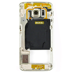 Genuine Samsung SM-G925F Galaxy S6 Edge Middle Cover with Camera Lens and Loudspeaker in Gold- Samsung part no: GH96-08376C