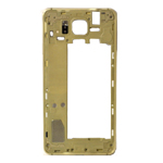 Genuine Samsung SM-G850F Galaxy Alpha Rear Chassis with Loudspeaker and Side Button in Gold- Samsung part no: GH96-07649B