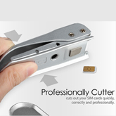 New Stainless Steel Nano Sim Cutter for iPhone 6S Plus, 6S, 5, SE - includes Nano Sim Cutter and 2 adaptors