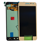 Genuine Samsung SM-A300F Galaxy A3 Complete Display LCD with Touchscreen in Gold- Samsung part no: GH97-16747F