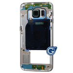 Samsung Galaxy S6 Edge SM-G925F Rear Chassis with Loudspeaker and Side Buttons in Green