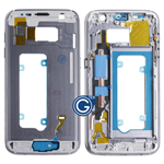 Samsung Galaxy S7 SM-G930 LCD Frame Bezel with power and volume buttons in Black