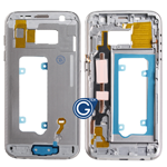 Samsung Galaxy S7 SM-G930 LCD Frame Bezel with power and volume buttons in Gold