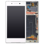 Genuine Sony Xperia Z5 (E6653) Complete lcd and touchpad with frame in Silver - Part no: 1296-1894