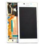 Genuine Sony Xperia M2 Dual (D2302) Complete Front with LCD and Digitizer Touchscreen in White- Sony part no:78P7120006N