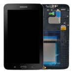 Genuine Samsung SM-T116 Galaxy Tab 3 Lite Complete Lcd with Digitizer and Frame including Home Button and Flex in Black- Samsung part no: GH97-16950B