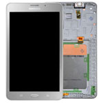 Genuine Samsung SM-T285 Galaxy Tab A 7.0 (2016) Complete Lcd with Digitizer, Frame and Home Button in Silver- Samsung part no: GH97-18756C