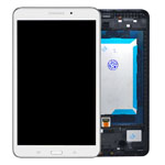 Genuine Samsung SM-T330 Galaxy Tab 4 8.0 Wi-Fi Complete Lcd with Digitizer, Home Button and Frame in White- Samsung part no: GH97-15755B