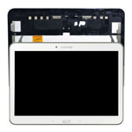 Genuine Samsung SM-T533 Galaxy Tab 4 10.1 (2015) Complete Lcd with Digitizer and Frame in White- Samsung part no: GH97-17100B