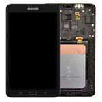 Genuine Samsung SM-T280 Galaxy Tab A 7.0 WiFi (2016) Complete Lcd with Digitizer, Frame and Home Button in Black- Samsung part no: GH97-18734A