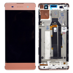 Genuine Sony Xperia XA (F3111)/ XA Dual (F3112) Complete Lcd with Digitizer Touchpad in Rose Gold-Sony part no: 78PA3100100