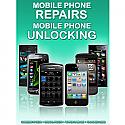 General mobile Phone Unlocking and Repair A3 Poster (Green)