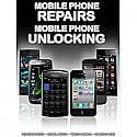 General mobile Phone Unlocking and Repair A3 Poster Black