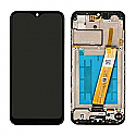 Genuine Samsung Galaxy M11 (M115F) Complete lcd display with front frame in black - Part No: GH81-18736A