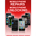 General mobile Phone Unlocking and Repair A3 Poster Red