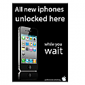 A3 print iphone unlocking poster in black