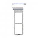 Genuine Samsung Galaxy Note 10 (N970F) Sim Card Holder In Aura Glow / Silver Part No: GH98-44525C