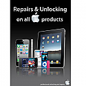 A3 Poster Apple Repair & Unlocking black