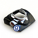 iPhone 3g 3gs Earphone Chrome Ring in Black