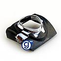 iPhone 3g 3gs Earphone Chrome Ring in Black
