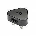 Genuine Blackberry 9900 9860 HDW-29714-001 USB Mains Adaptor 3Pin UK Black
