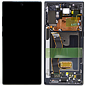 Genuine Samsung Note 10 Plus (N975F) /Note 10+ 5G Complete lcd and touchpad with frame in Black - Part no: GH82-20838A