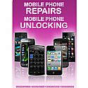 General mobile Phone Unlocking and Repair A3 Poster Purple
