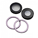 Iphone 11 Rear Camera Lenses With Brackets - Purple - OEM