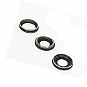 Iphone 11 Rear Camera Lenses With Brackets - Black - OEM
