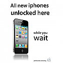 A3 iphone unlocking poster in white