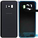Genuine Samsung SM-G955 Galaxy S8+ Battery Cover in Black - Part no: GH82-14015A (GRADE A)