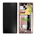 Genuine Samsung Galaxy Note 20 Ultra N985F/ Note 20 Ultra 5G Complete Display in Mystic Bronze - Part no: GH82-23597D,GH82-23596D