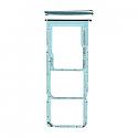 Genuine Samsung Galaxy A71 (A715F) Sim Card Holder In Blue - Part No: GH98-44757C
