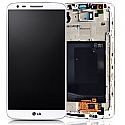 Genuine LG G3(D855) Complete lcd with touchpad & frame assembly in White - P/N:ACQ87190301