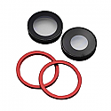 Iphone 11 Rear Camera Lenses With Brackets - Red - OEM