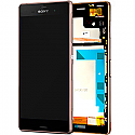Genuine Sony Xperia Z3 (D6603) Complete lcd with touchpad and frame and Front Assy in Copper - Sony part number: 1290-6076
