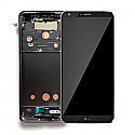 Genuine LG G6 H870 Complete lcd with digitizer and frame assembly in Black - LG Part Number: ACQ89384002
